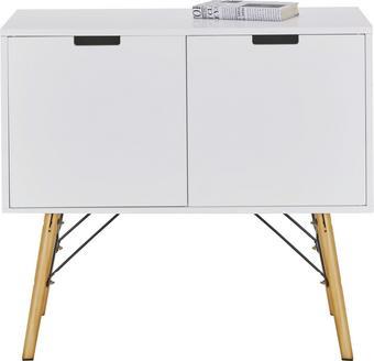 Kommode Weiß - Weiß/Kieferfarben, MODERN, Holz/Holzwerkstoff (80/71/40cm) - Mömax modern living