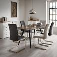 Stuhl Lucie - Chromfarben/Grau, MODERN, Holz/Textil (42,5/98/45cm) - Modern Living