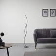 Stehleuchte Shara mit Led - Schwarz, MODERN, Metall (21/145/21cm) - Modern Living