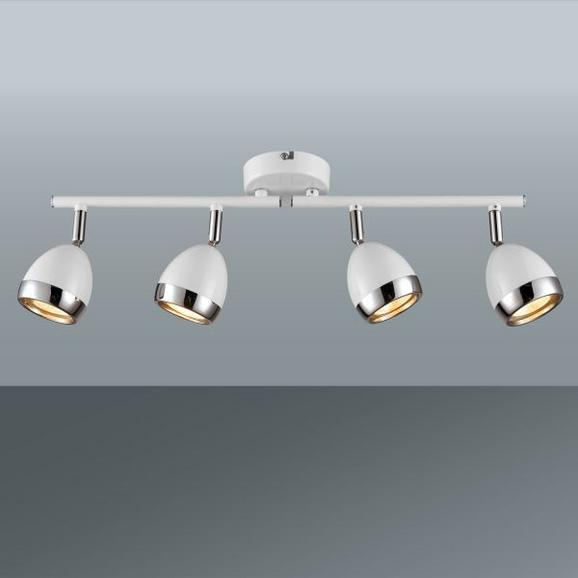 Reflektor Nantes - bela/krom, Trendi, kovina/umetna masa (50/17cm) - Mömax modern living