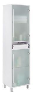 Badezimmerschrank Basic - Weiß, MODERN, Glas/Holz (44/173/35cm) - Modern Living
