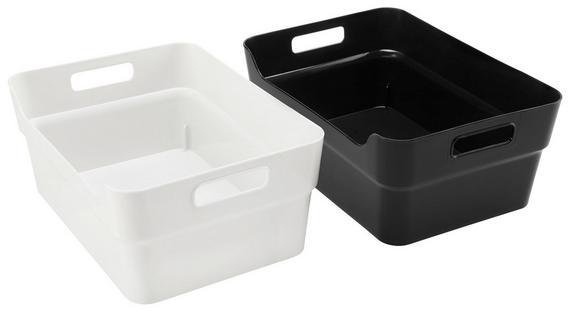 Box Linn - A4 Schwarz und Weiß - Schwarz/Weiß, Kunststoff (34/24/14cm)