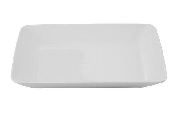 Mélytányér Marina - fehér, modern, kerámia (23/17,8/3,5cm) - premium living