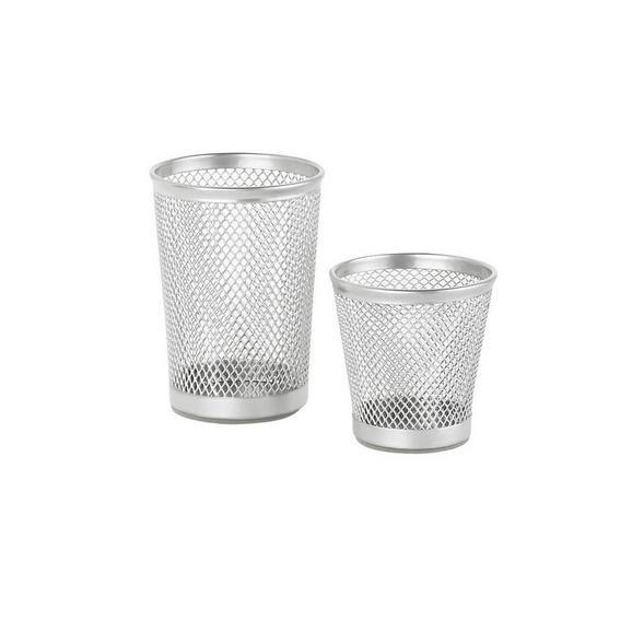 Stiftehalter Mesh Silber - Silberfarben, Metall (7cm) - Mömax modern living
