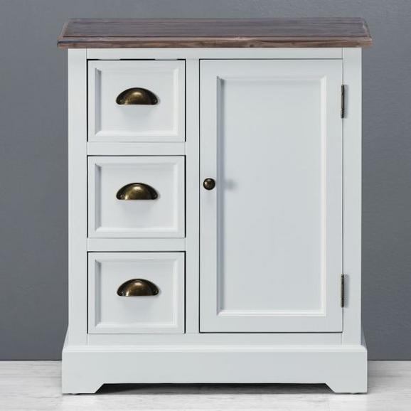 Sideboard Cookie - Braun/Weiß, Holz/Metall (60/70/30cm) - Premium Living