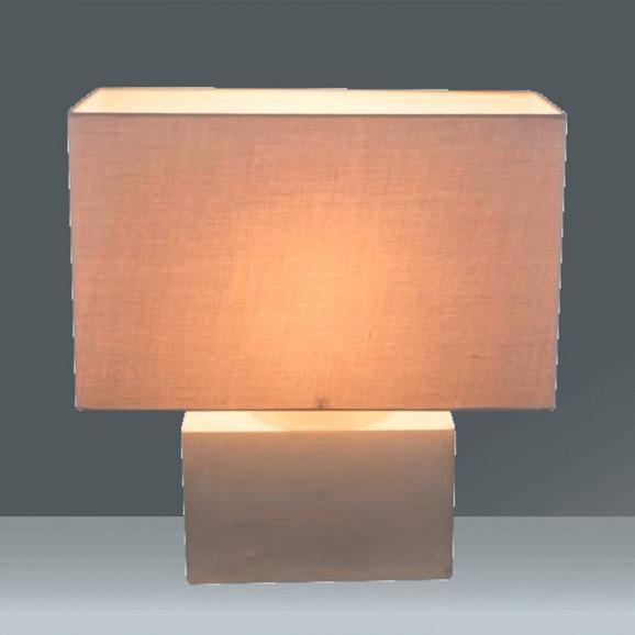 Namizna Svetilka Armin - siva, kamen/tekstil (40/20/42cm)