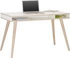 Pisalna Miza Billund - bela/hrast, Moderno, leseni material/les (120/75/60cm) - Modern Living