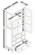 Vitrine Nicolo - Eichefarben/Weiß, MODERN, Glas/Holz (72/175/34cm) - Modern Living