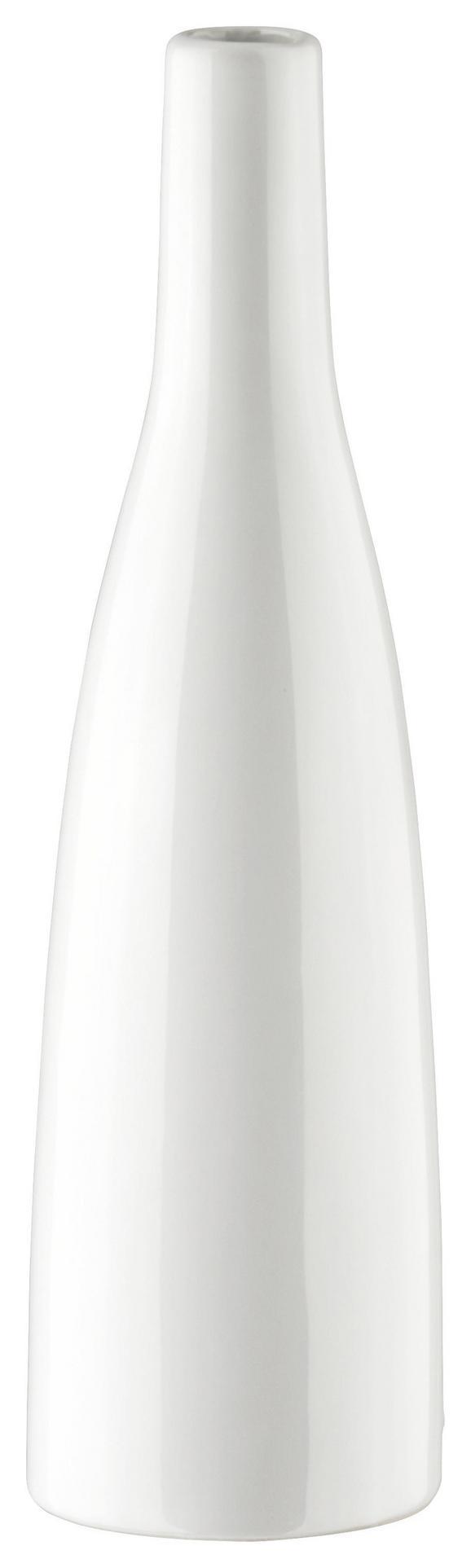 Vase Plancio in Weiß aus Glas - Weiß, MODERN, Keramik (27cm) - Mömax modern living