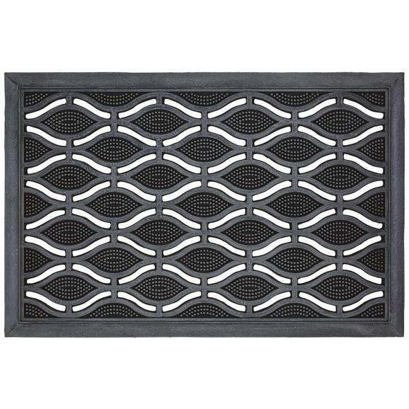 Fußmatte Weaves in Schwarz - Schwarz, Basics, Kunststoff (40/60cm) - Mömax modern living