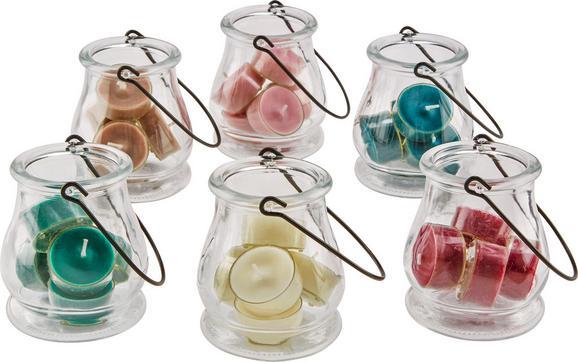 Windlicht Verena in verschiedenen Farben - Champagner/Braun, Glas/Kunststoff (9,3/9,8cm) - Mömax modern living