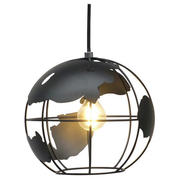 Hängeleuchte Fynn Schwarz max. 60 Watt - Schwarz, LIFESTYLE, Kunststoff/Metall (30/125cm) - Premium Living