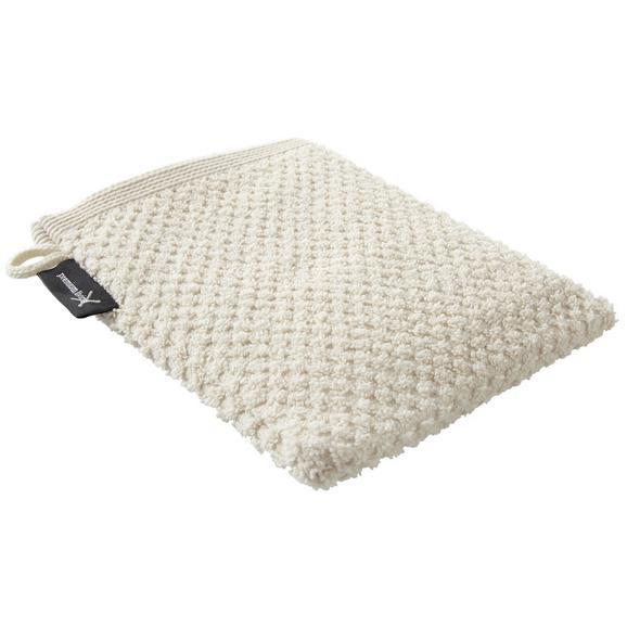 Waschhandschuh Juliane Beige - Beige, Textil (16/21cm) - Premium Living
