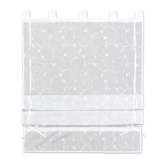 Bändchenrollo Romantic, ca. 100x140cm - Weiß, ROMANTIK / LANDHAUS, Textil (100/140cm) - Mömax modern living
