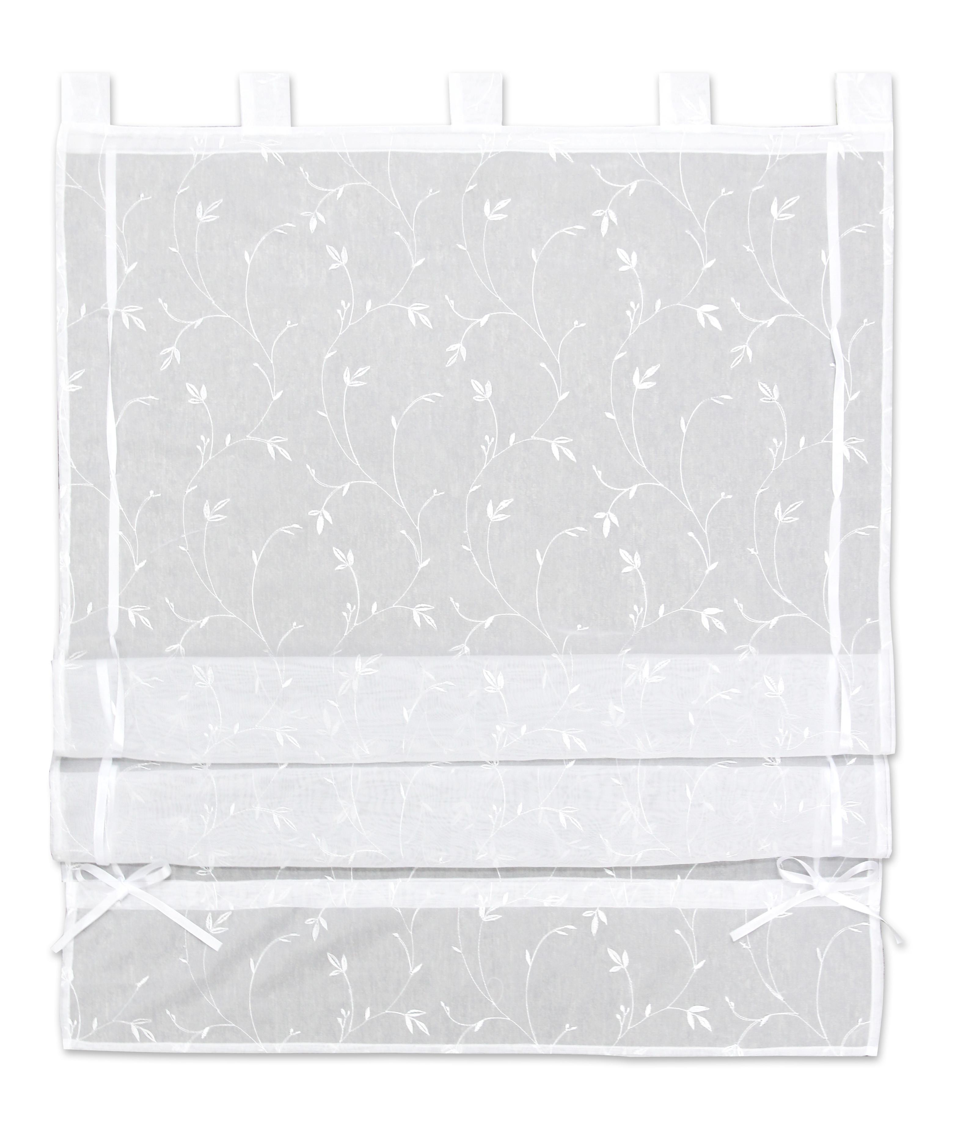 Bändchenrollo Romantic, ca. 80x140cm - Weiß, ROMANTIK / LANDHAUS, Textil (80/140cm) - MÖMAX modern living