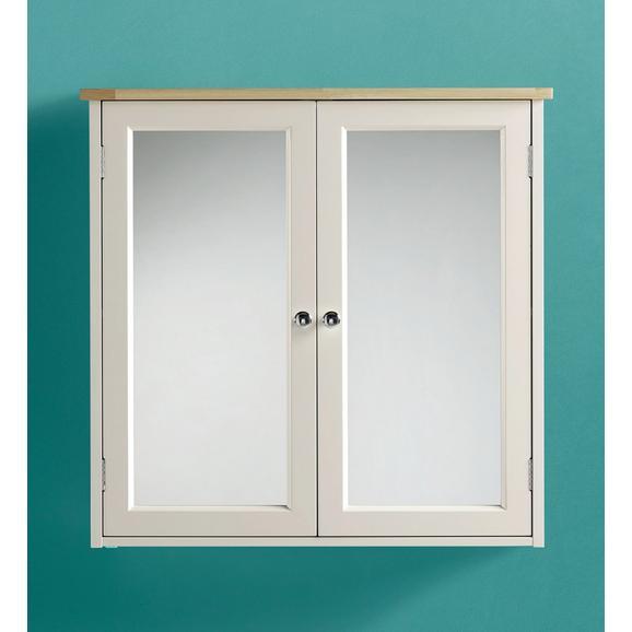 Spiegelschrank Jule - Buchefarben/Weiß, MODERN, Glas/Holz (63cm) - Modern Living