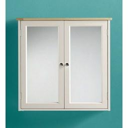Spiegelschrank Jule - Fichtefarben/Weiß, MODERN, Glas/Holz (63/61,5/17,5cm) - MODERN LIVING