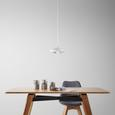 LED-Hängeleuchte max. 10 Watt 'Leah' - Weiß, MODERN, Glas/Kunststoff (21/21/180cm) - Bessagi Home