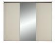 Schwebetürenschrank Hellbraun/magnolie - Hellbraun/Magnolie, LIFESTYLE, Glas/Holzwerkstoff (280/222/68cm) - Premium Living