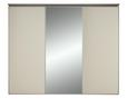 Schwebetürenschrank Hellbraun/magnolie-spiegel - Hellbraun/Magnolie, LIFESTYLE, Glas/Holzwerkstoff (249/222/68cm) - Premium Living