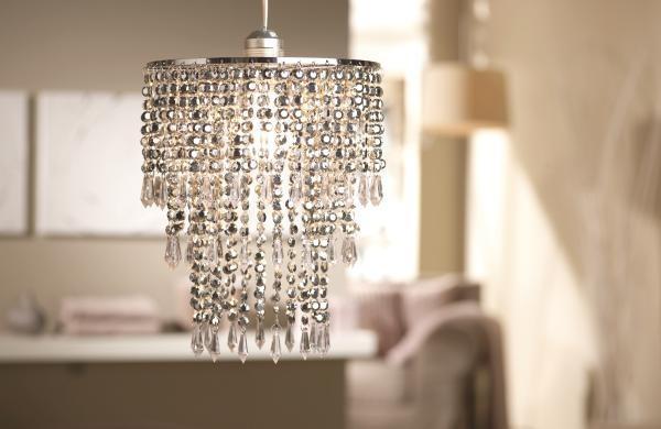 Lámpaernyő Klar - krómszínű, műanyag (23cm) - MÖMAX modern living