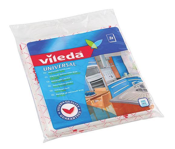 Törlőkendő Vileda - Bézs, konvencionális, Karton/Textil