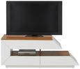 TV-Element in Weiß Hochglanz - Braun/Weiß, MODERN, Holzwerkstoff (120/47/42cm) - Mömax modern living