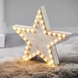 Dekostern Natale mit Led H ca. 60 cm - Naturfarben/Weiß, KONVENTIONELL, Holz (40/40cm) - Mömax modern living
