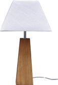 Tischleuchte Riley - Walnussfarben/Weiß, MODERN, Holz/Textil (25,5/25,5/43cm) - Mömax modern living