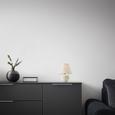 Namizna Svetilka Creme - krem, Romantika, steklo/tekstil (18/25/18cm) - Mömax modern living