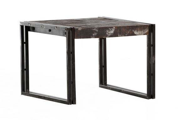 Dohányzóasztal Titan - Sötétbarna, Lifestyle, Fa/Fém (60/60/45cm)