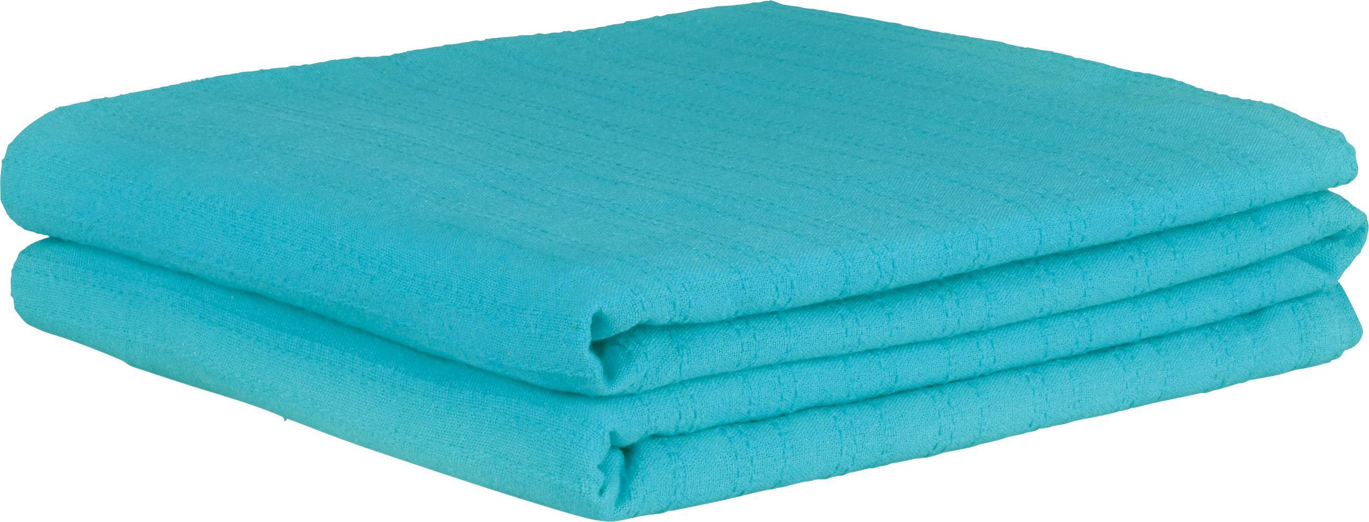 Ágytakaró Solid One - petrol, textil (240/210cm)