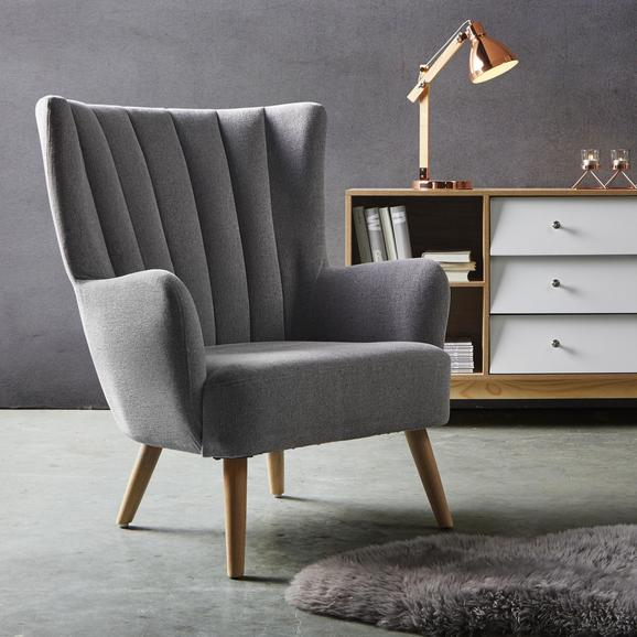 Sessel Dora - Hellgrau, MODERN, Holz/Textil (76,5/91/81,5cm) - Mömax modern living
