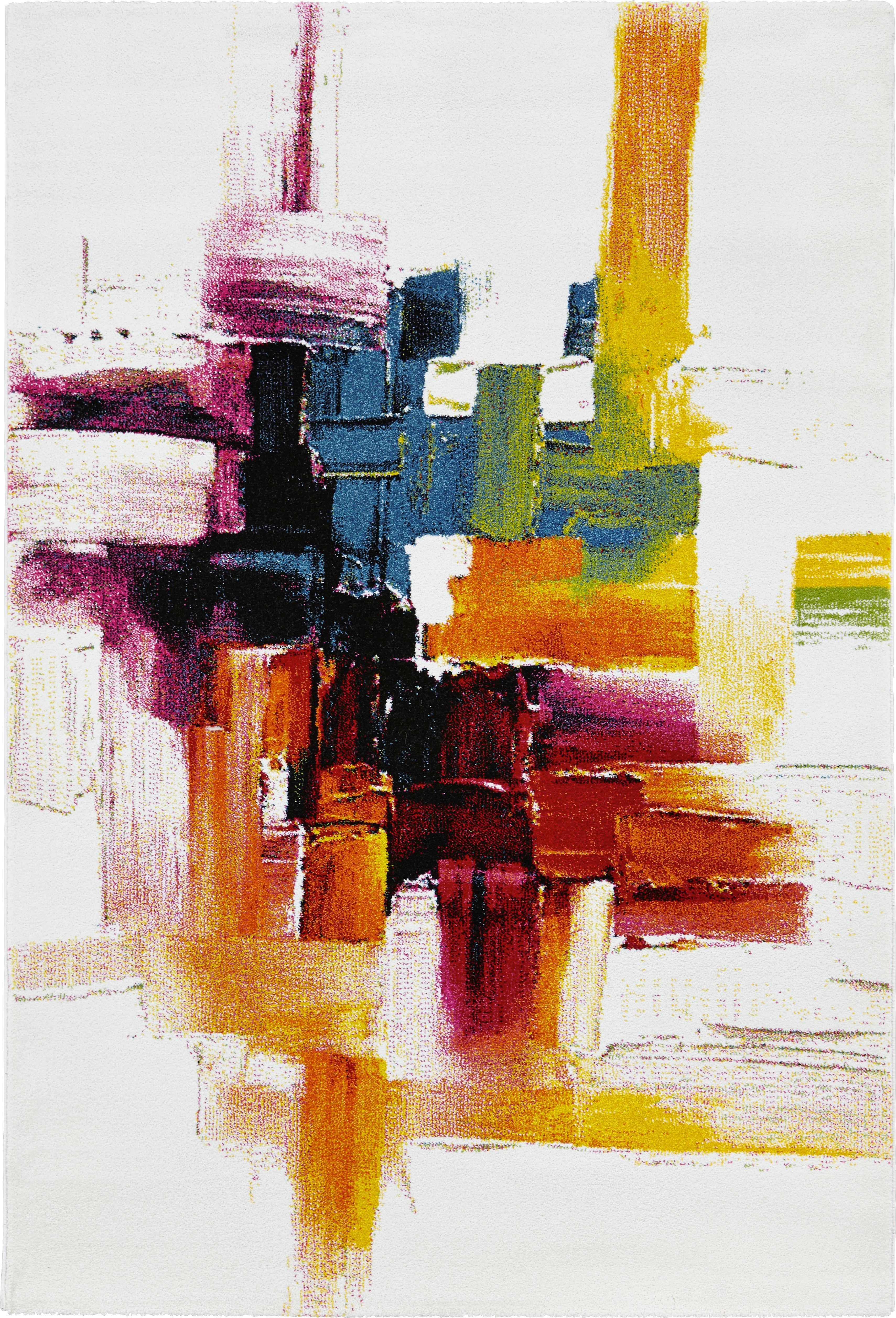 Webteppich abstract in Bunt ca. 160x230cm - Multicolor, LIFESTYLE, Textil (160/230cm) - MÖMAX modern living