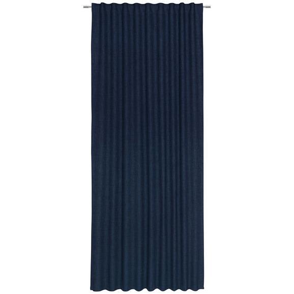 Fertigvorhang Leo Dunkelblau 135x255cm - Dunkelblau, Textil (135/255cm) - Premium Living