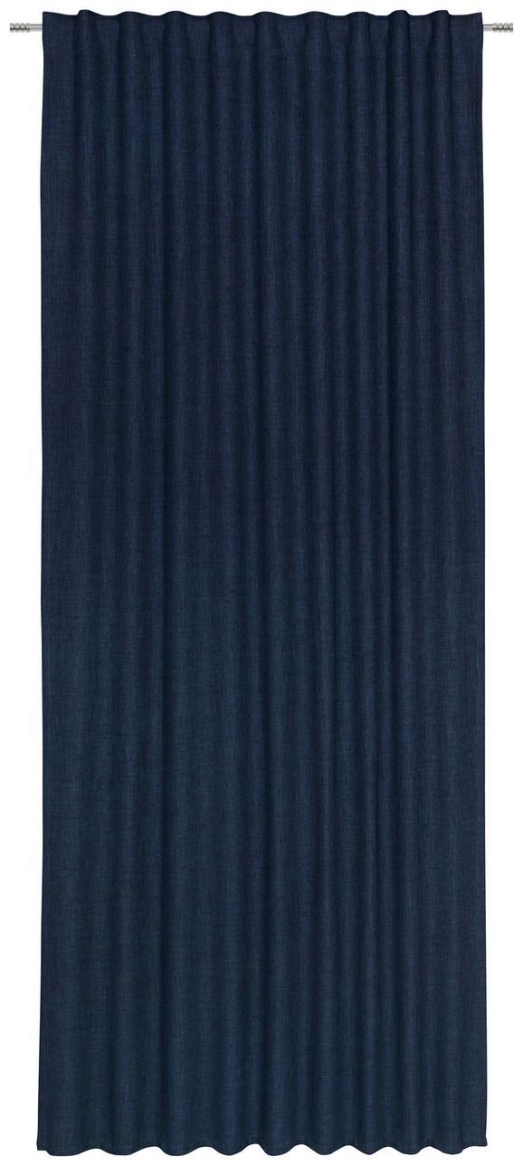 Končana Zavesa Leo-top- - temno modra, tekstil (135/255cm) - Premium Living