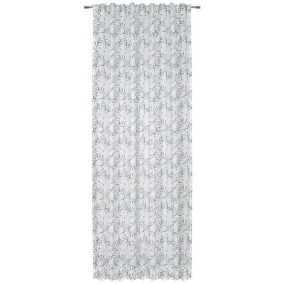 Fertigvorhang Athena in Grün/Weiß - Weiß/Grün, Textil (140/245cm) - Mömax modern living
