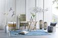 Stuhl Grau/natur - Naturfarben/Grau, ROMANTIK / LANDHAUS, Holz (54/100/46cm) - Modern Living