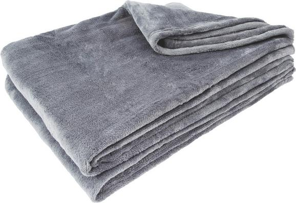Pătură Pufoasă Kuschelix - Antracit, Material textil (140/200/cm)