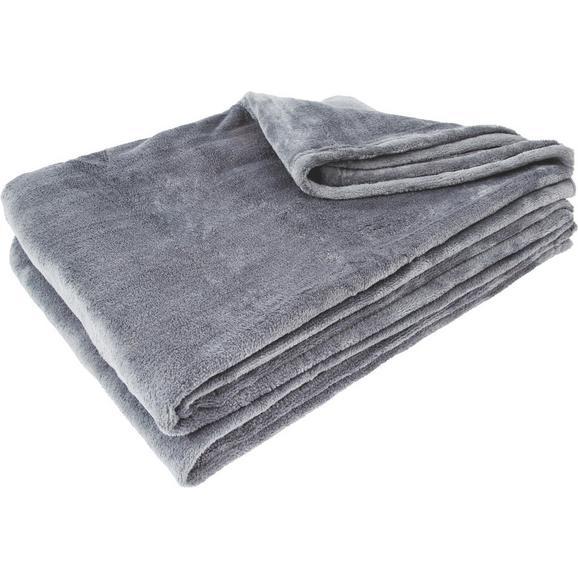 Pătură Pufoasă Kuschelix - antracit, textil (140/200cm)