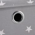 Boxen-Set in Grau 2er Set mit Deckel 'Sandy' - Weiß/Grau, MODERN, Kunststoff (30/30/30cm) - Bessagi Home