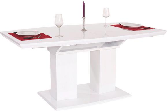 Raztegljiva Miza Malvin 180 - bela, Moderno, leseni material (180/76/90cm) - Mömax modern living