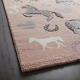 Kinderteppich Horse Love ca. 100x150cm - Rosa, Basics, Textil - Mömax modern living