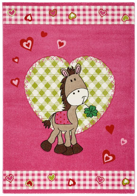 Kinderteppich Pony Pink, ca. 120x170cm - Pink, Textil (120/170cm) - Mömax modern living