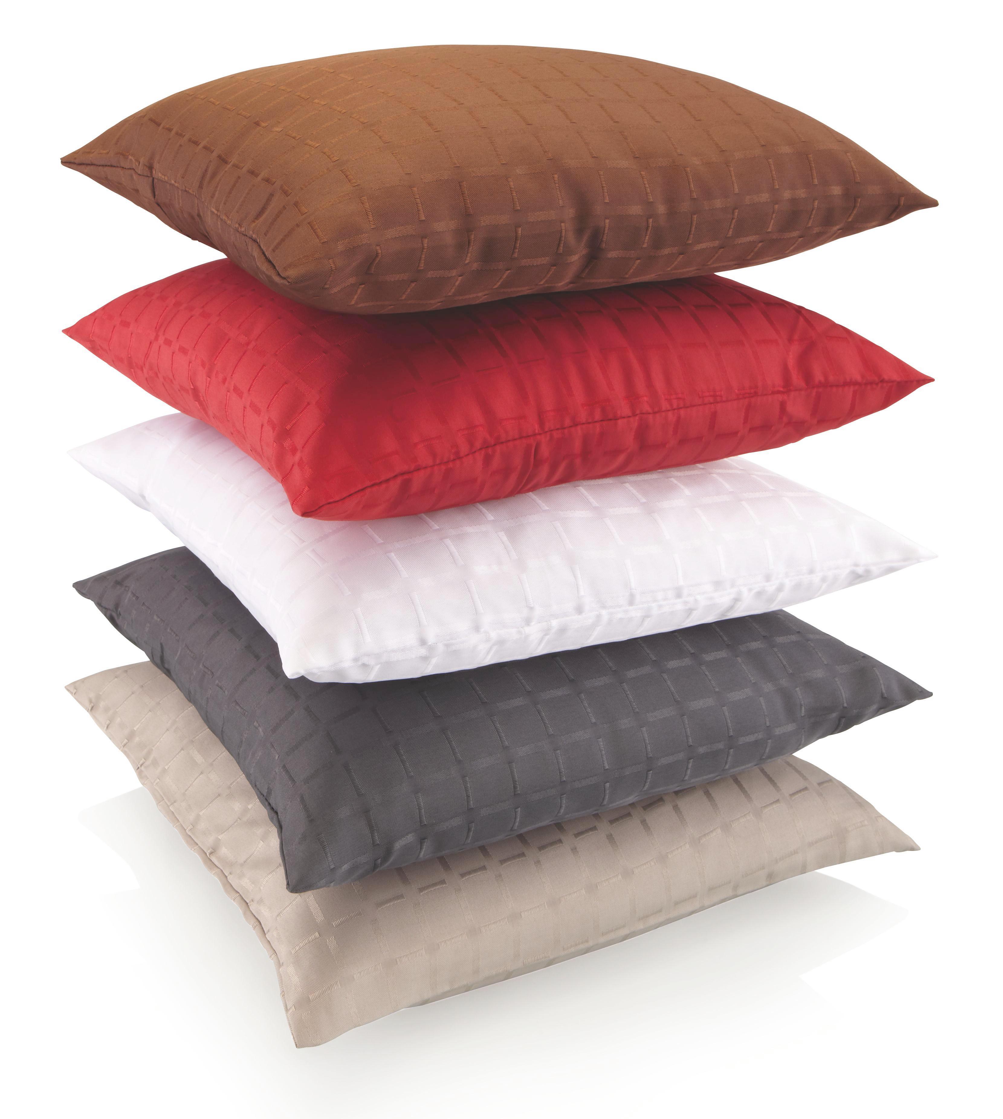Kissenhülle Gitter, ca.40x40cm - Gelb/Rot, Textil (40/40cm) - BASED