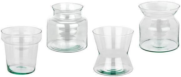 Vaza Marina - prozorna, Trendi, steklo (14.5/14/14.5cm)