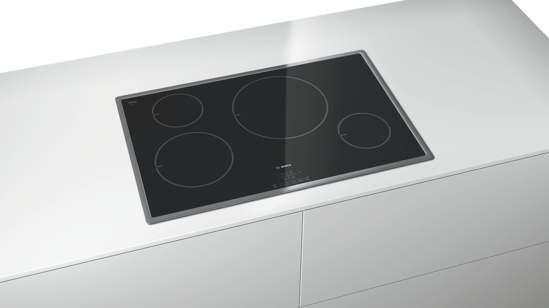 Induktionskochfeld Bosch Pil845b17e, 4 Kochzonen - KONVENTIONELL, Glas/Metall (79,5/5,5/51,7cm) - BOSCH