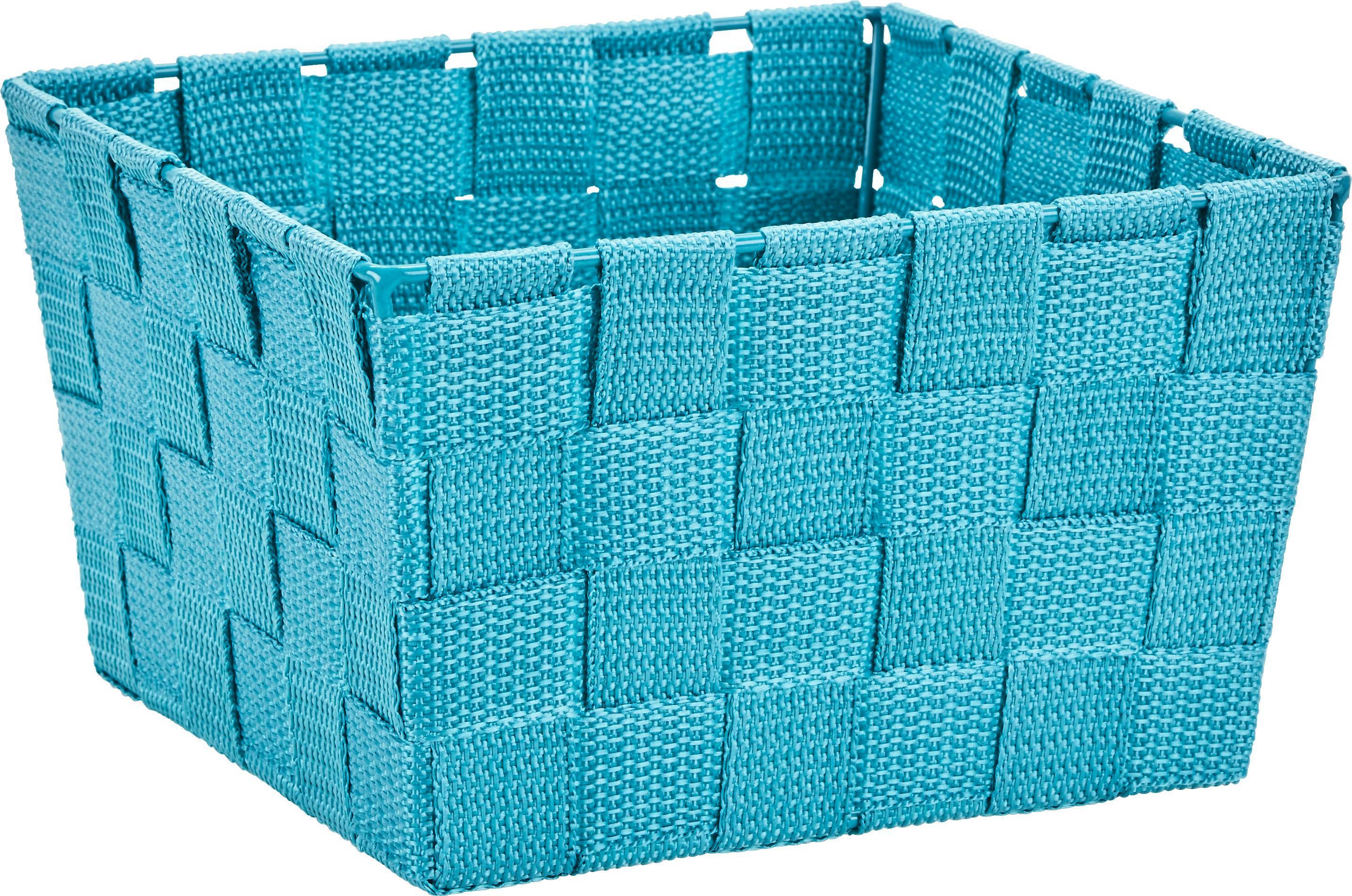 Kosár Nelly - kék, modern, textil (19/19/11cm) - MÖMAX modern living