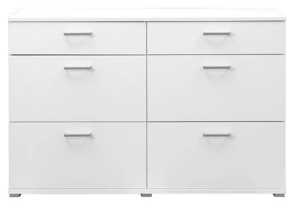 Kommode in Weiß - Weiß, Holz/Metall (143/86/45cm) - MÖMAX modern living