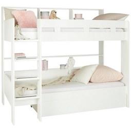 Etagenbett in Weiß - Weiß, KONVENTIONELL, Holzwerkstoff (210/189/129cm) - Modern Living